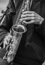 Steve Lehman i Alexandraparken under åpningen av Molde internasjonale jazzfestival 2017. Foto Kari-Anne Flor