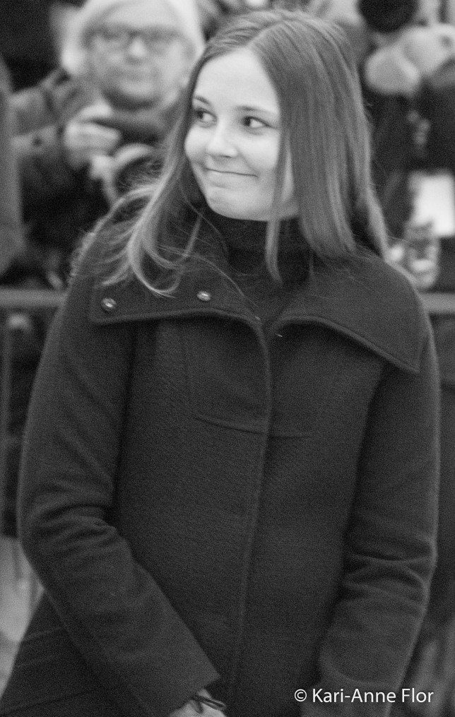 Prinsesse Ingrid Alexandra med morsomt smilefjes,