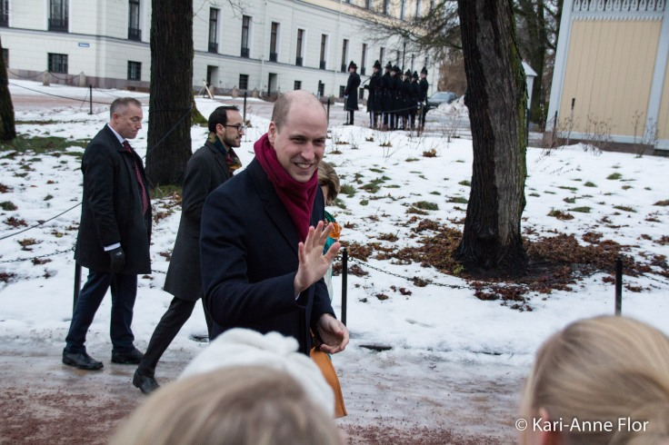 Prins William i slottsparken i Oslo.